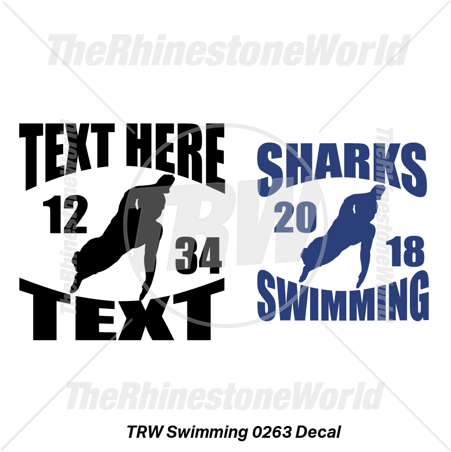 TRW Swimming 0263 Decal (Vol 1) - Download