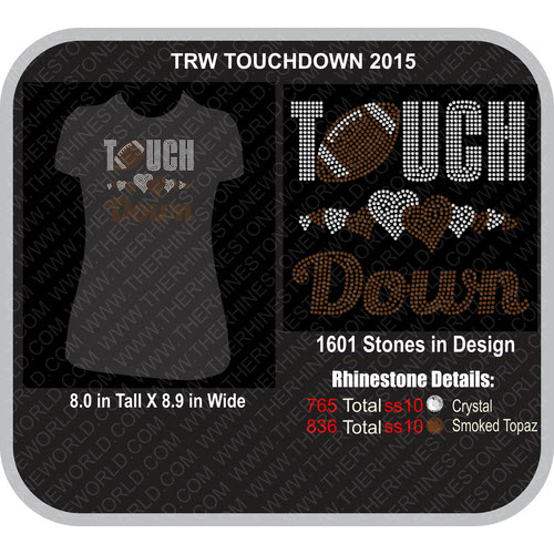 TRW TOUCHDOWN 2015 Rhinestone Design  - Download