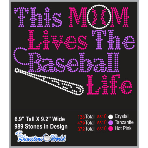 TRW This Mom Lives The Baseball Life Design W/ MOCKUP  - Download