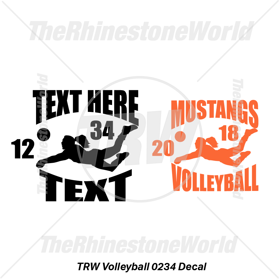 TRW Volleyball 0234 Decal (Vol 1) - Download
