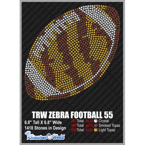 TRW ZEBRA FOOTBALL 55 Design W/ MOCKUP - Download