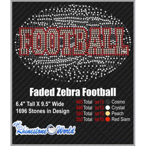 TRW ZEBRA FOOTBALL FADE OUT Design   - Download