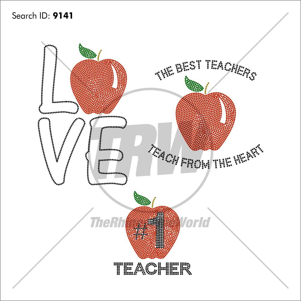 Teacher Pack 1 Rhinestone Design - Download