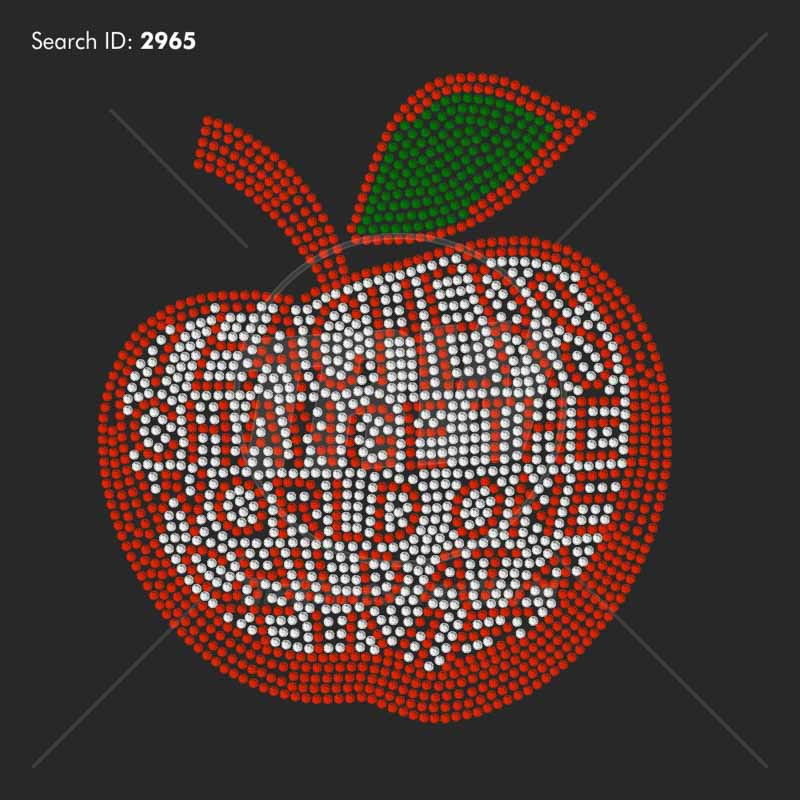 Teachers Change The World Rhinestone Design - Pre-Cut Template