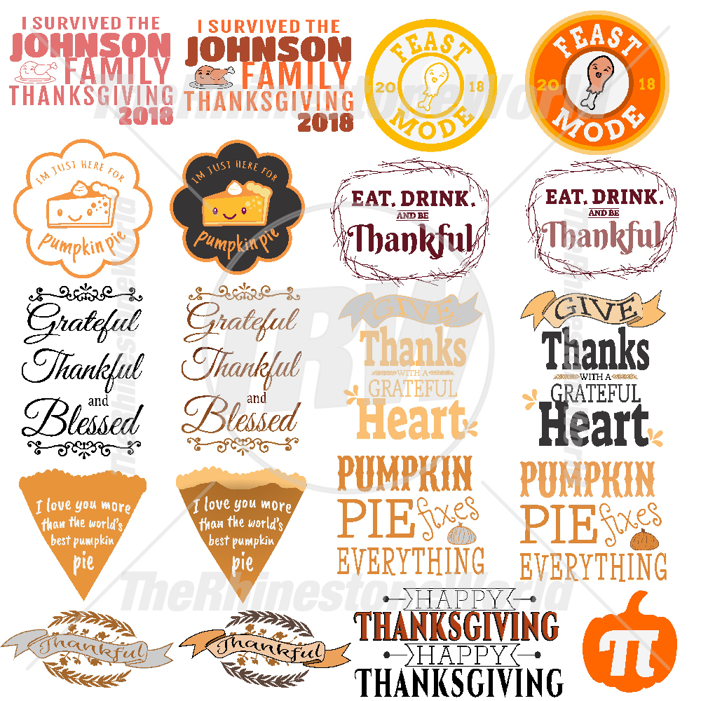 Thanksgiving Live Template Mini Pack