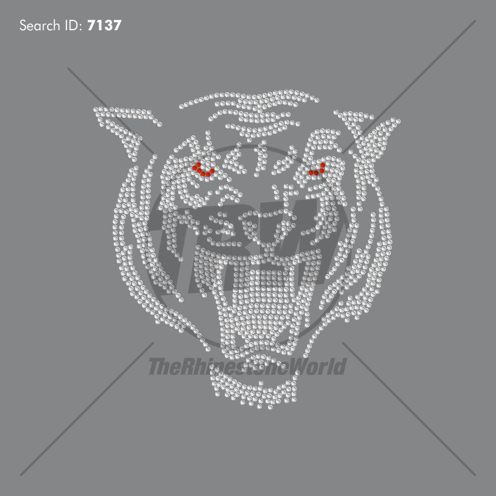 Tiger 3 Rhinestone Design - Pre-Cut Template