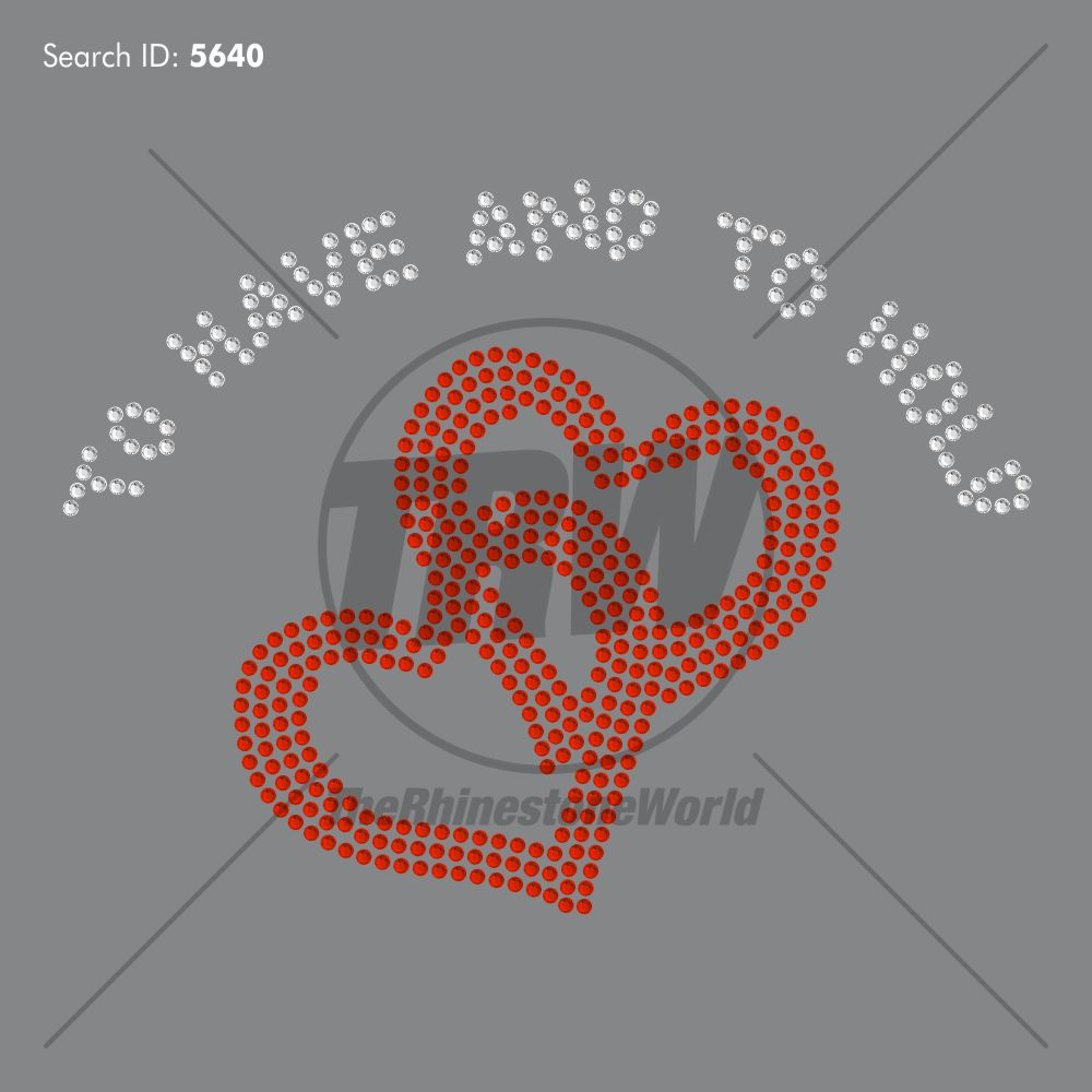 To Have and to Hold Rhinestone Design - Download