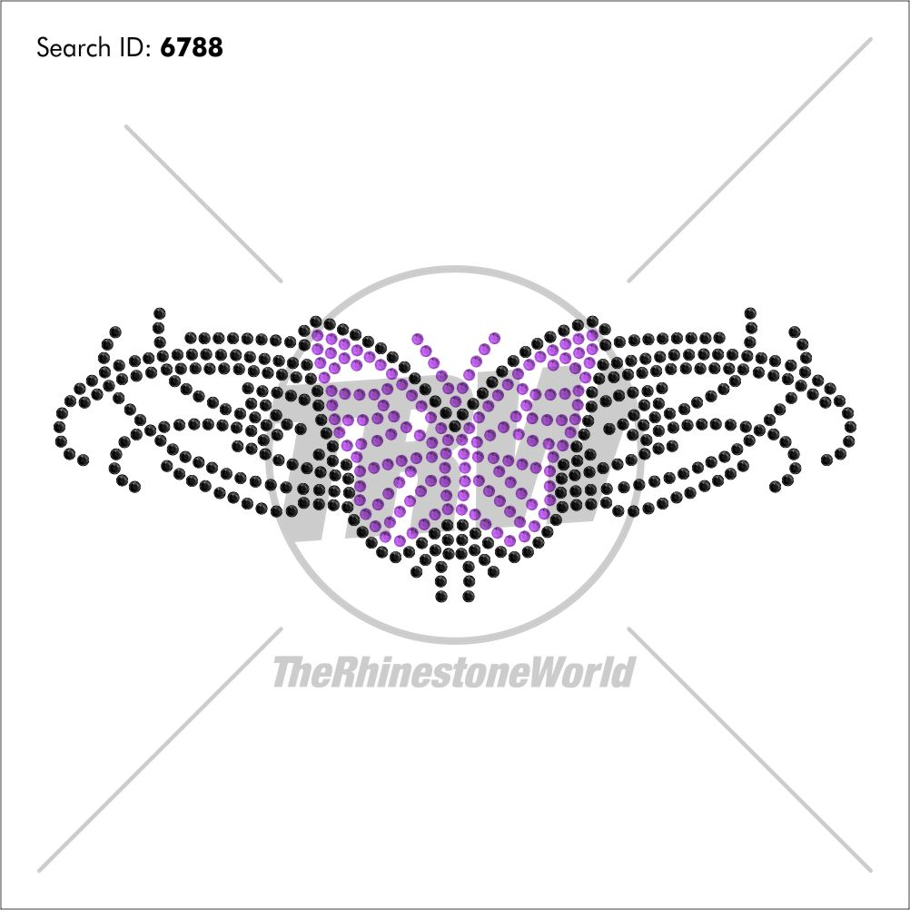 Tribal Butterfly 2 Rhinestone Design - Download