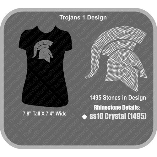 Trojans 1 Rhinestone Design - Download