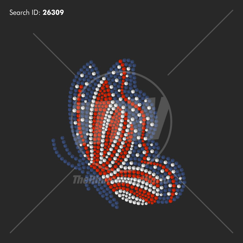 USA Butterfly 3 Rhinestone Design - Download