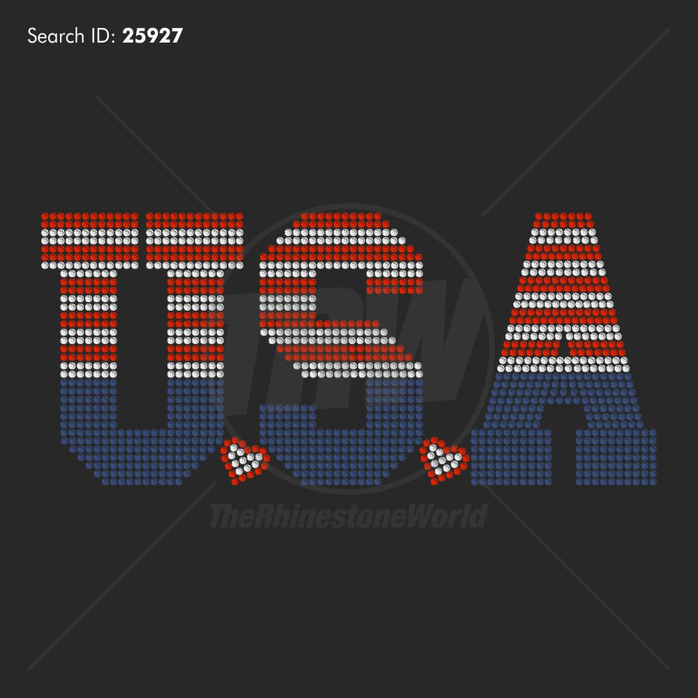 USA Stripes Rhinestone Design - Download