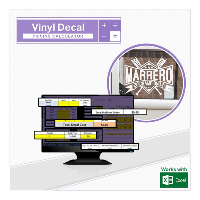 vinyl decal pricing calculator