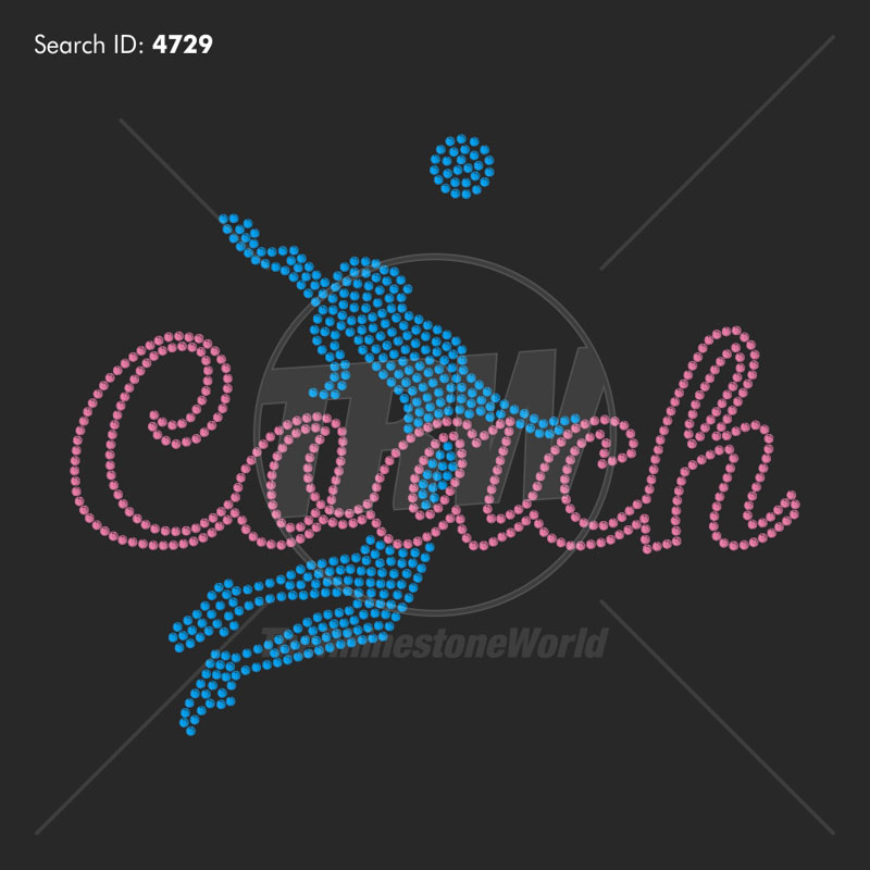 Volleyball Coach 33 - Pre-Cut Template