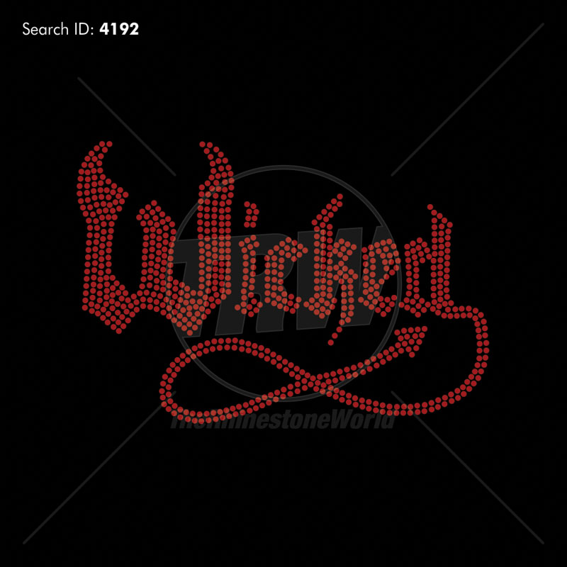 Wicked Rhinestone Design - Pre-Cut Template