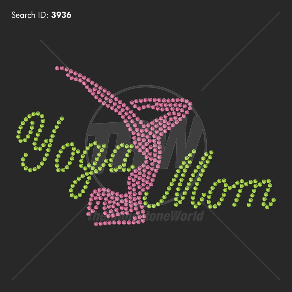 Yoga Mom 3 - Pre-Cut Template