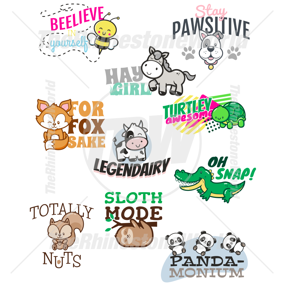 Animal Puns Live Template Mini Pack Vol 2