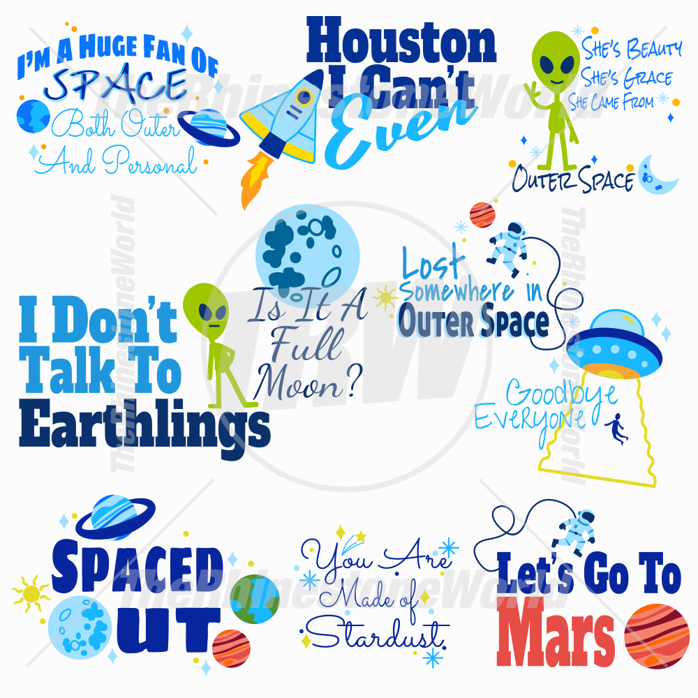Spaced Out Live Template Mini Pack SVG