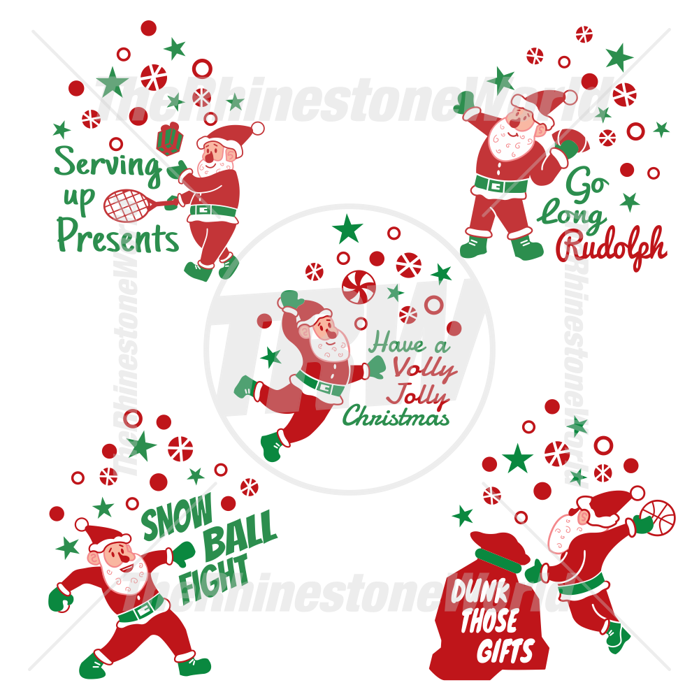 Sports Santa Live Template Mini Pack 1