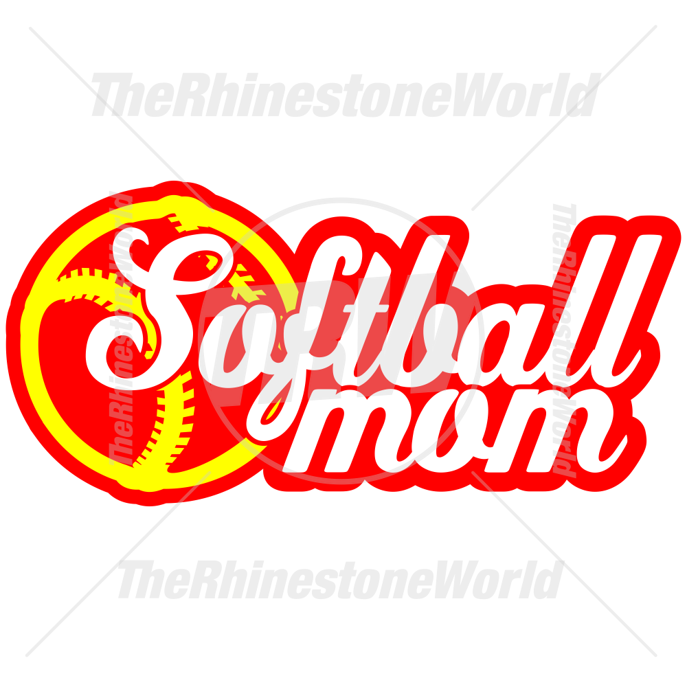 Softball Mom Script Decal