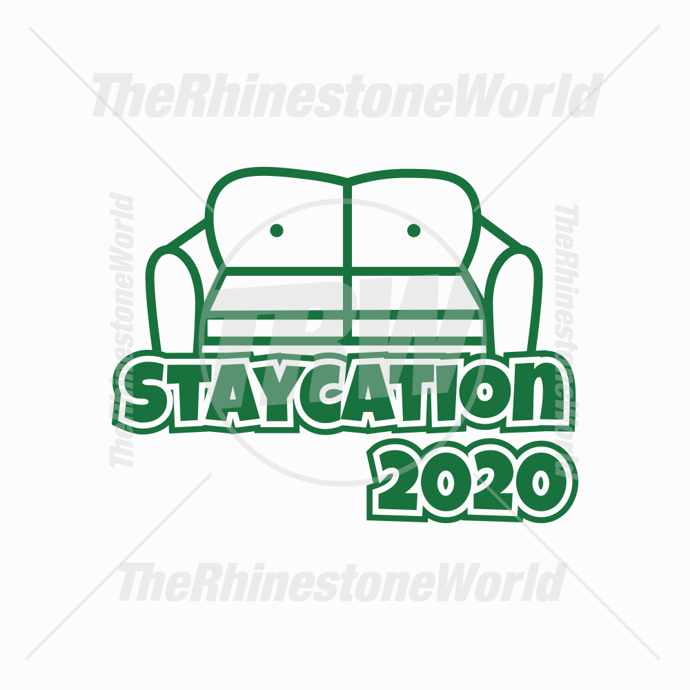 Staycation 2020 Vector Design