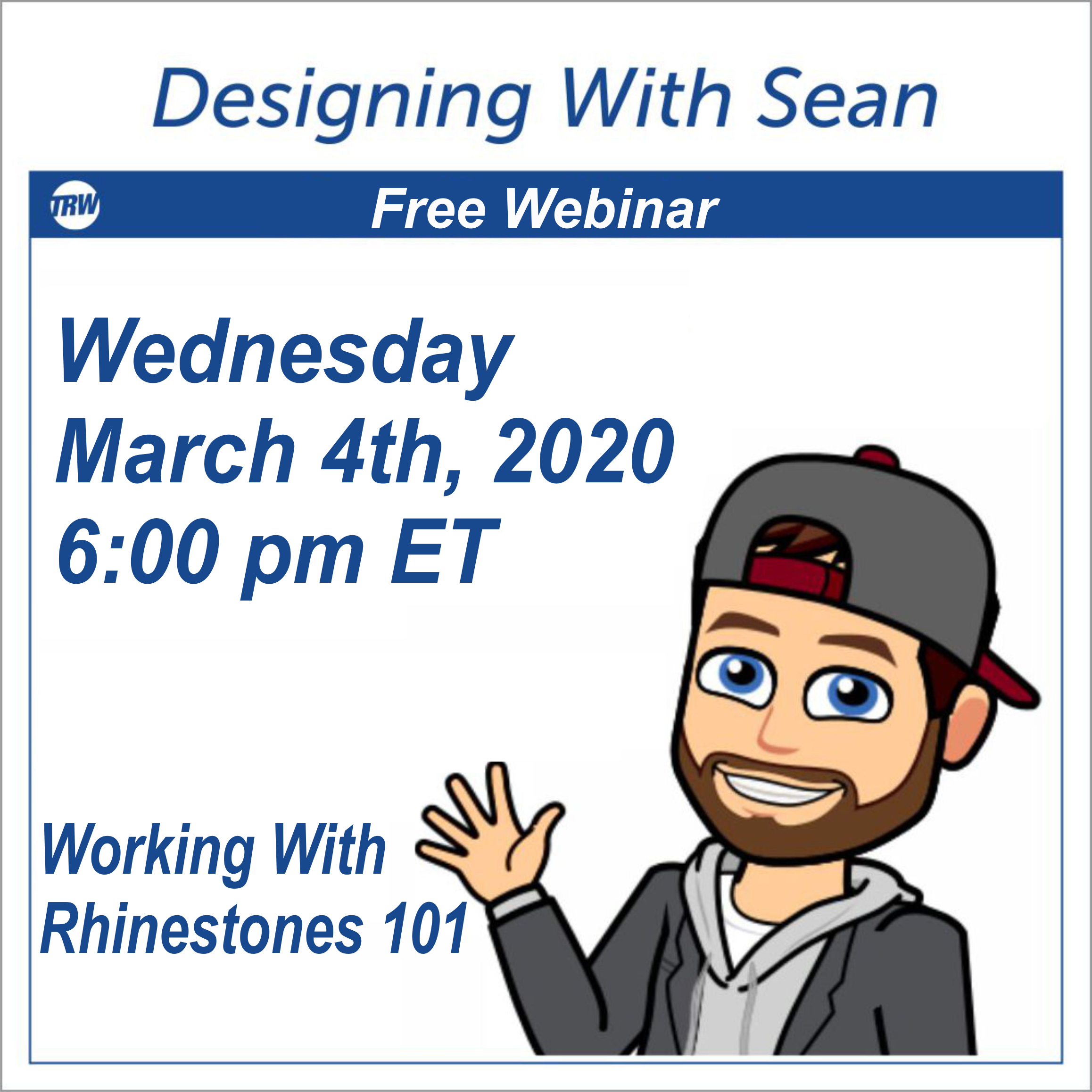 Designing with Sean | Working with Rhinestones 101 - March 4th 2020