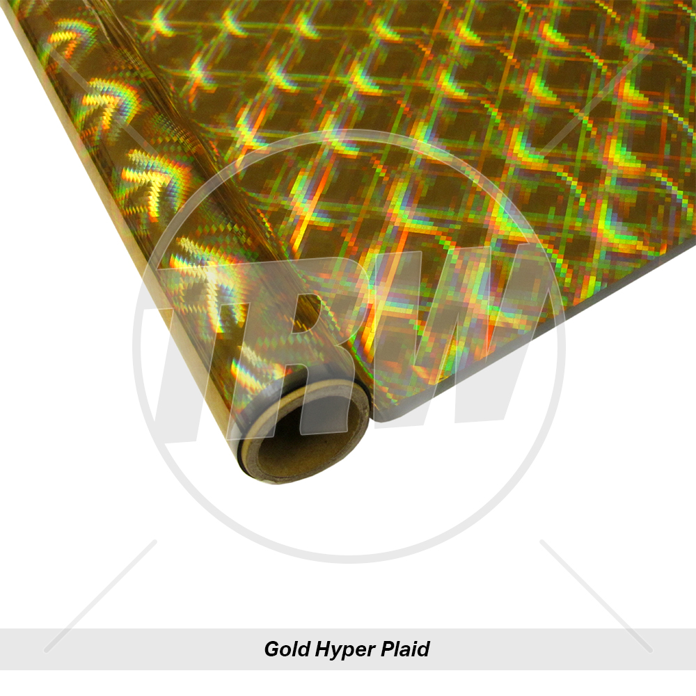 Self-adhesive Plaid Pattern HyperPlaid Holographic Sign Vinyl 24 Inch x 10 Feet