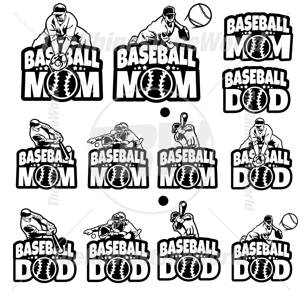 Baseball Parents Decal Mini Pack