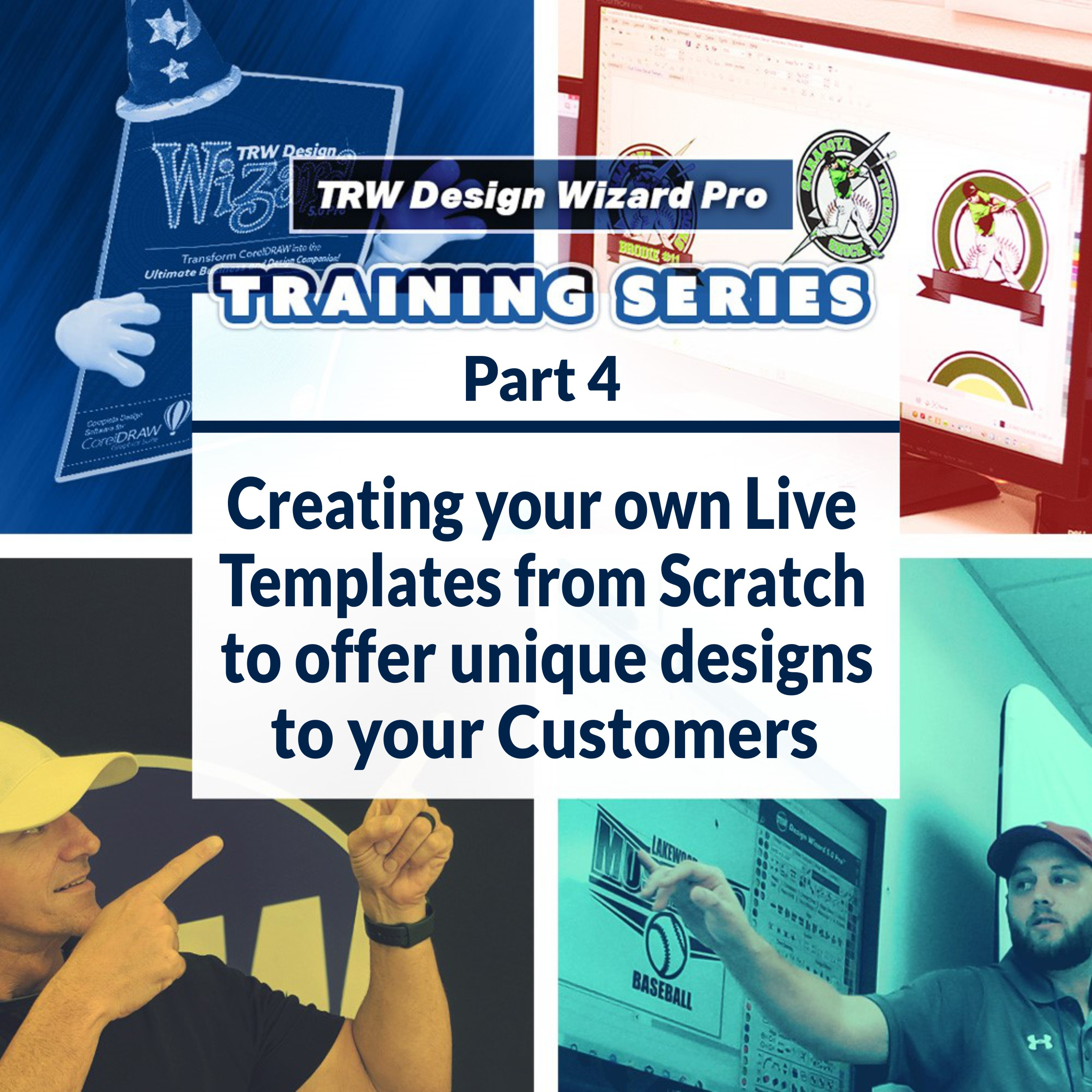 TRW Design Wizard Training Series | Part 4: Creating your own Live Template Designs from Scratch | Thursday March 26 2020 6PM-8PM ET.