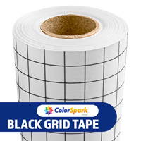ColorSpark Super High Tack Textured Glitter Application Tape - Black Grid 12