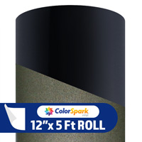 ColorSpark Reflective Adhesive Vinyl - Black (5 Foot Roll)