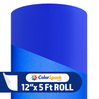 ColorSpark Reflective Adhesive Vinyl - Blue (5 Foot Roll)