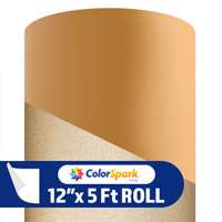 ColorSpark Reflective Adhesive Vinyl - Gold (5 Foot Roll)