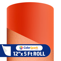 ColorSpark Reflective Adhesive Vinyl - Orange (5 Foot Roll)