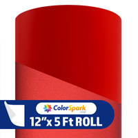 ColorSpark Reflective Adhesive Vinyl - Red (5 Foot Roll)