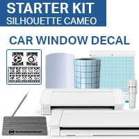 Silhouette Cameo - Decal Vinyl Starter Kit