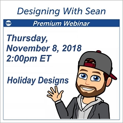 Designing with Sean - November 8, 2018