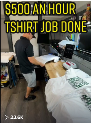 Make $500 In One Hour Making T-shirts!