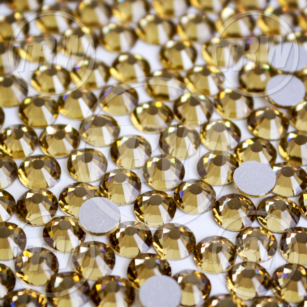 Flatback Light Topaz SS10 Rhinestones 100-Gross
