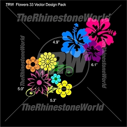 TRW Flowers 33 Pack Vector Designs