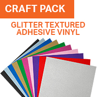 ColorSpark Textured Glitter Adhesive Vinyl Craft Pack