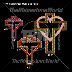 TRW Heart Cross Multi-Dec Pack