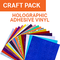 Colorspark Holographic Adhesive Vinyl Craft Pack