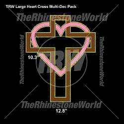 TRW Large Heart Cross Multi-Dec