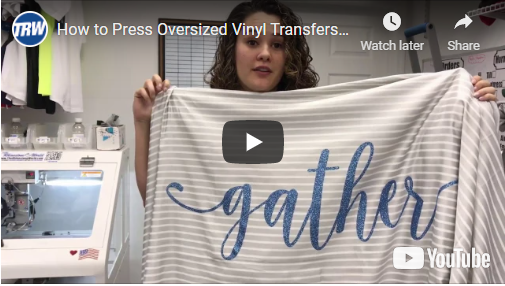 How to Press Oversized Vinyl Transfers With TRW Magic Tape