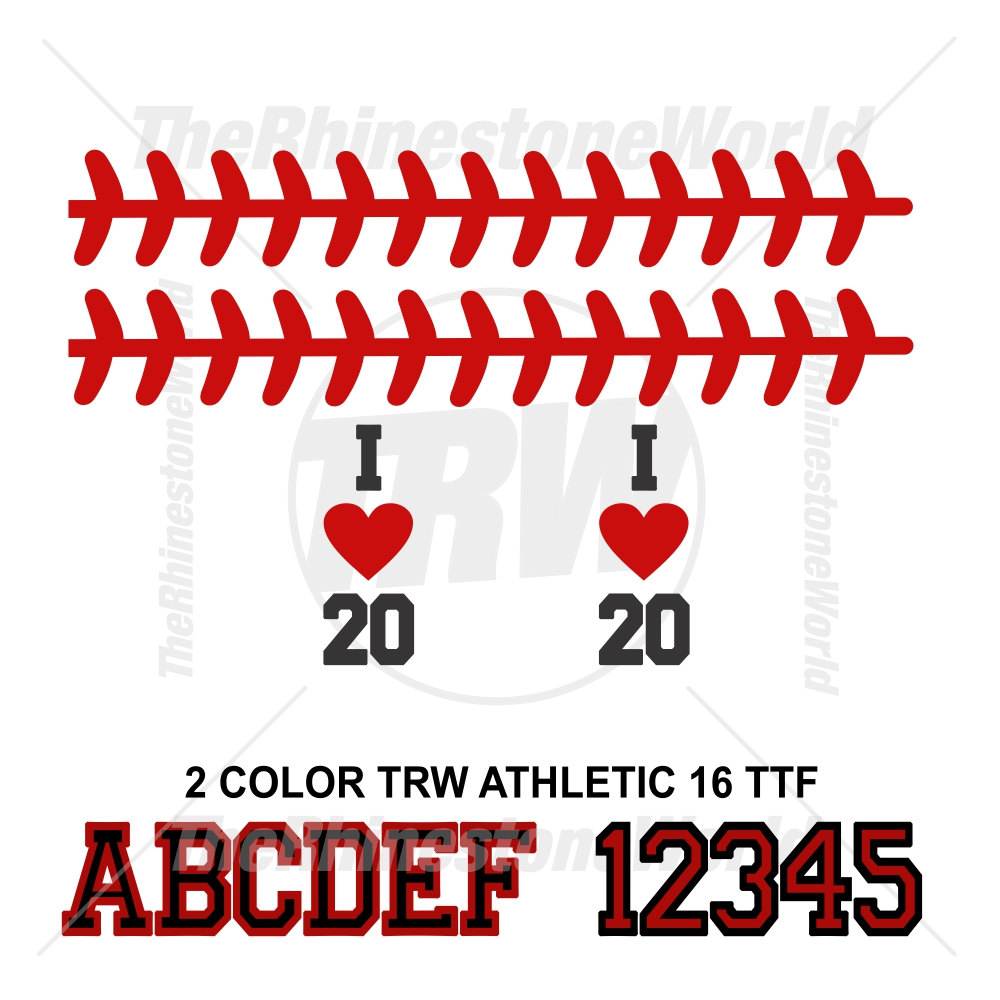 TRW Baseball Laces Flip Flop Design and Font - Download