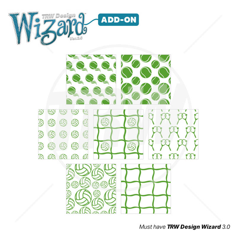 Magic Pattern Pack Vol 16 Volleyball Tennis for Design Wizar