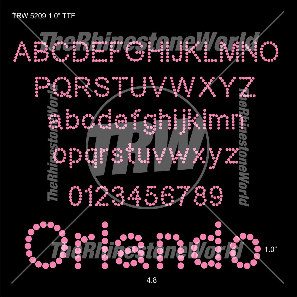 TRW 5209 Rhinestone TTF - Download