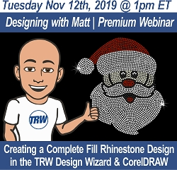 Designing with Matt | Creating a Rhinestone Fill Design from a Existing Rhinestone Design in the Design Wizard and CorelDRAW - November 12th,2019
