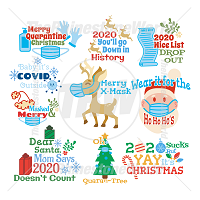 2020 Christmas Live Template Mini Pack SVG