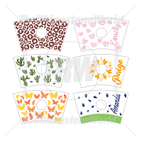 24oz Cup Template Mini Pack 6